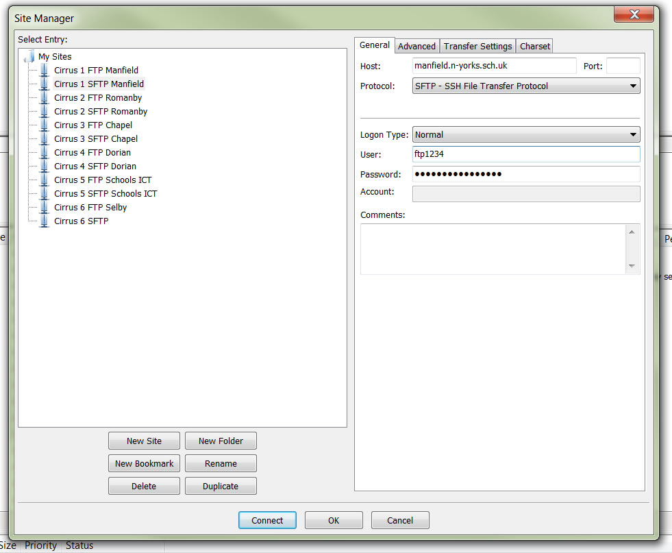 filezilla manager