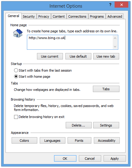 Internet Explorer 11 How To Set The Home Page And Default Search