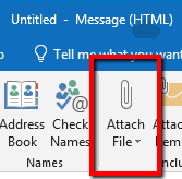 Attach File in Outlook Client