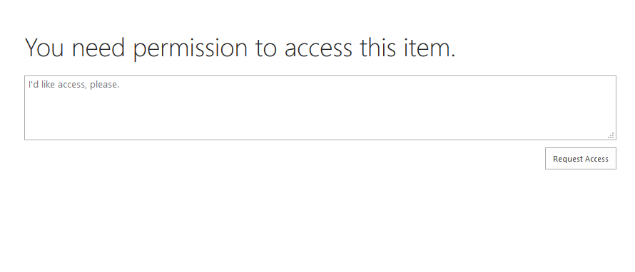Access request prompt