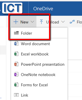 onedrive create new folder